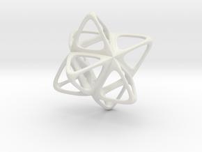Merkaba Flatbase R2 - 4cm in White Natural Versatile Plastic