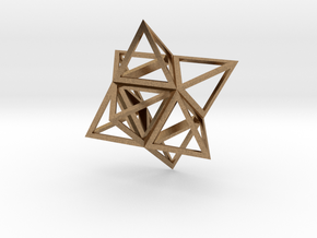 Merkaba Flatbase 4cm in Natural Brass