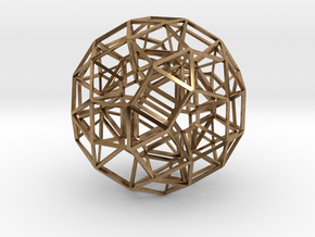 Dodecahedron .06 5cm in Natural Brass