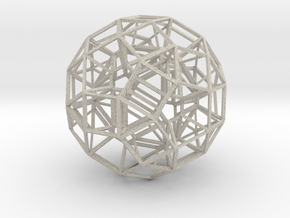 Dodecahedron .06 5cm in Natural Sandstone