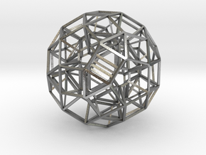 Dodecahedron .06 5cm in Natural Silver