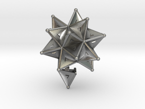 Stellated Icoso Case - 3.6cm in Natural Silver