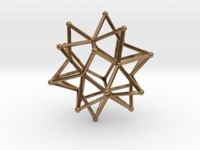 Stellated Icosohedron WireBalls - 3cm in Natural Brass