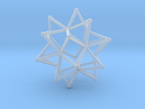 Stellated Icosohedron WireBalls - 3cm in Smooth Fine Detail Plastic