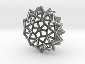 Tessa2 Half WireBalls 2cm in Natural Silver