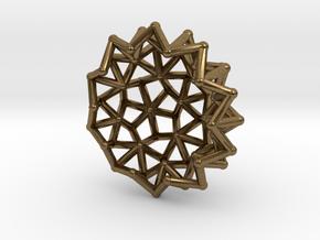 Tessa2 Half WireBalls 2cm in Natural Bronze