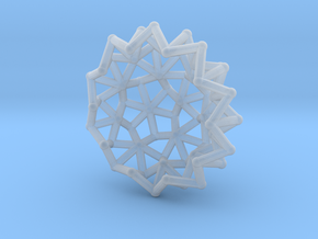 Tessa2 Half WireBalls 2cm in Smooth Fine Detail Plastic