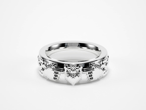 8bit Claddagh ring mkII size 5.5 in Natural Silver