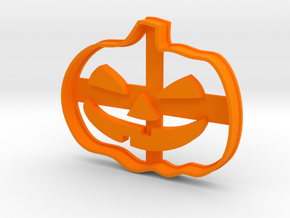Pumpkin Halloween Cookie Cutter in Orange Processed Versatile Plastic