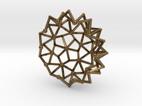 Tessa2 Half WireBalls 3cm in Natural Bronze