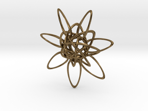 HexTwist 7 Points - 6cm in Natural Bronze