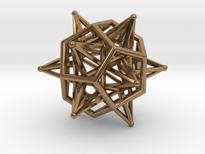 Dodeca Star Icoso Wire 4cm in Natural Brass