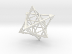 Merkaba Wire 1 Caps 5cm in White Natural Versatile Plastic