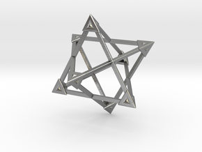 Merkaba Wire Pyramids Only 1 Caps 5cm in Natural Silver