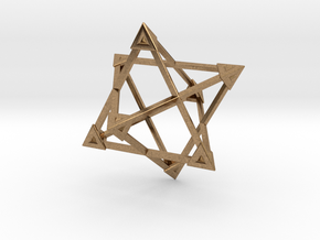 Merkaba Wire Pyramids Only 1 Caps 5cm in Natural Brass