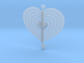Heart Swap Spinner Flat Spiral - 15cm in Smooth Fine Detail Plastic