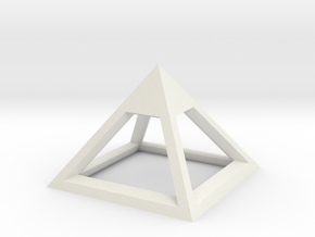 Pyramid Mike 3cm in White Natural Versatile Plastic