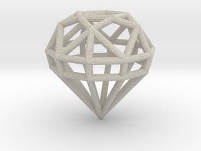 Gem Wire 5 Facets 3cm in Natural Sandstone