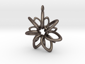 RingStar 7 Points - 4cm, Loopet in Polished Bronzed Silver Steel