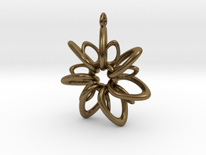 RingStar 7 Points - 4cm, Loopet in Natural Bronze