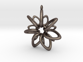 RingStar 7 points - 5cm, Loopet in Polished Bronzed Silver Steel