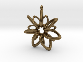 RingStar 7 points - 5cm, Loopet in Natural Bronze