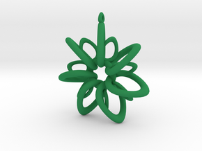 RingStar 7 points - 5cm, Loopet in Green Processed Versatile Plastic