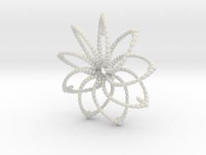 Cluster Funk 9 Points 5cm in White Natural Versatile Plastic