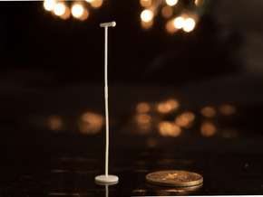 1:24 Mic Stand with Disc Base in White Natural Versatile Plastic
