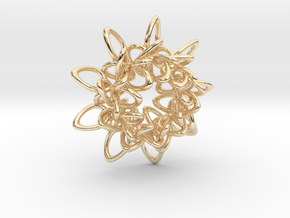 Ring Flower 1 - 4cm in 14K Yellow Gold