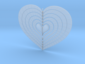 Change Of Heart Spinner Spiral Ribs 15cm in Smooth Fine Detail Plastic