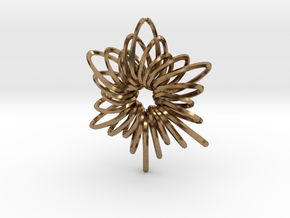 RingStar Twist 6 Points - 5cm in Natural Brass