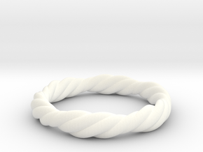 Twist Ring in White Strong & Flexible Polished
