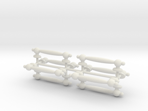 1/6 Scale Handles in White Natural Versatile Plastic
