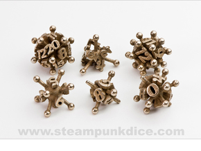 Jack Dice Set noD00 in Polished Bronzed Silver Steel