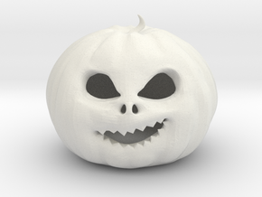 Smirking Pumpkin in White Natural Versatile Plastic