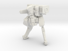 Neugen Battle Walker with autocannon and rocket po in White Natural Versatile Plastic