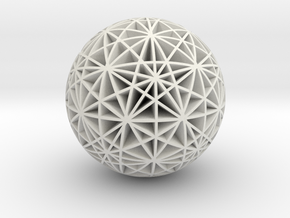 Stars Sphere in White Natural Versatile Plastic