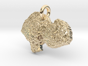 Comet 67p Pendant in 14K Yellow Gold