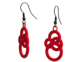 Michelin like earrings in Red Processed Versatile Plastic