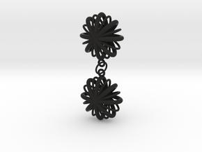 Flower Array earrings in Black Natural Versatile Plastic