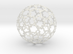 Sticks Sphere in White Natural Versatile Plastic