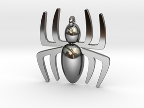 Small Spider Pendant in Fine Detail Polished Silver