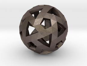 Triango Mesh Sphere in Polished Bronzed Silver Steel