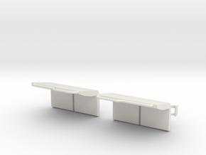 2550 2 Seat in White Natural Versatile Plastic