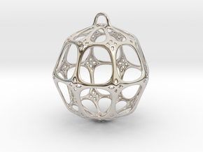 Christmas Bauble No.4 in Platinum