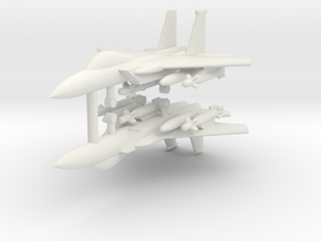 1/285 F-15E Strike Eagle (Strike Loadout) (x2) in White Natural Versatile Plastic