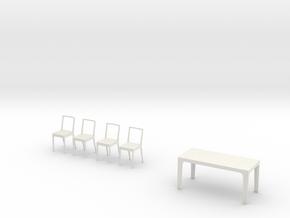Esstisch Mit Stühlen in White Strong & Flexible