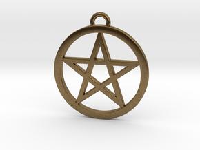 Pentacle Pendant 4cm in Natural Bronze
