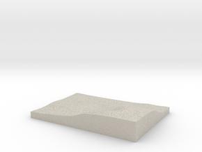 Model of Bratton in Natural Sandstone